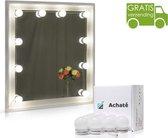 Achaté | Hollywood Spiegel Lampen | Make Up Spiegellamp met LED verlichting | Verstelbaar Dimbaar (10 standen) incl Regelaar