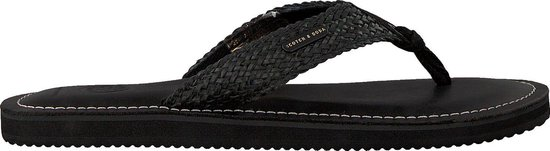 Scotch & Soda Heren Slippers Cadelli - Zwart - Maat 44