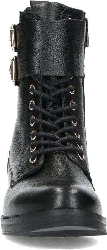 Sacha Dames Zwarte biker boots met accenten Maat 39