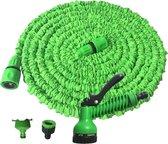 Baymate Flexibele Tuinslang  en Tuin Bewatering uitrekbare tuinslang met 7 in 1 sproeikop-100FT / 30m
