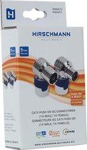 Hirschmann KOSWI 5 / KOKWI 5 Coax IEC push-on connectoren set / haaks