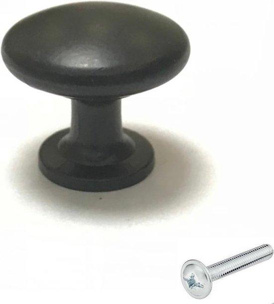 Deurknop zwart rond - Diameter 29 mm - Kastknop - Meubelknop - Deurknoppen voor kasten - Kastknoppen - Meubelbeslag - Deurknopjes - Meubelknoppen