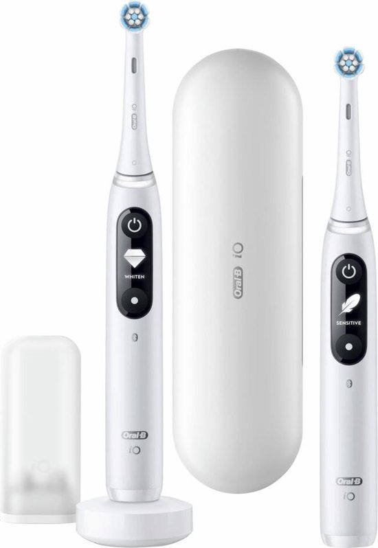 Oral-B iO - 7n - Elektrische Tandenborstels Wit, Duopack