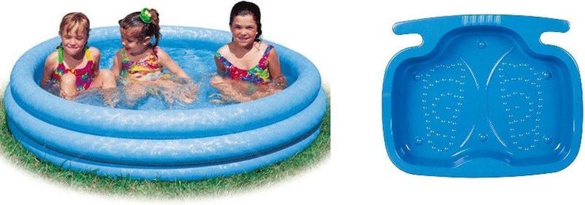 Opblaasbaar kinder zwembad 147 cm met voetenbadje - Zomerspeelgoed - Zwembaden voor kinderen