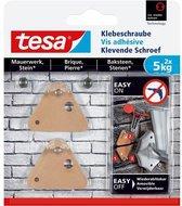Tesa klevende schroef baksteen driehoekig 5 kg. - 2 stuks