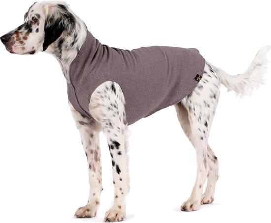 GoldPaw - Stretch Fleece Pullover - Rekbare hondenjas/hondentrui - Grijs - Maat 20 (15 - 30 kg)