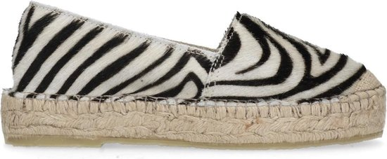 Sacha - Dames - Espadrilles met zebraprint - Maat 37
