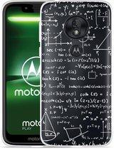 Moto G7 Play Hoesje Wiskunde wit