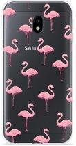 Samsung Galaxy J3 (2017) Hoesje Flamingo