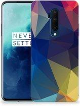 TPU Hoesje OnePlus 7T Pro Polygon Dark