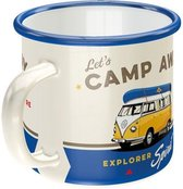 Emaille Beker Volkswagen Bulli Let's Camp Away