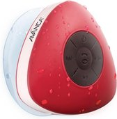 Avanca Bluetooth Waterdichte Wireless Speaker - Douche Speaker - Waterproof - Rood
