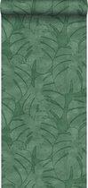 ESTAhome behang monstera bladeren donkergroen - 139004