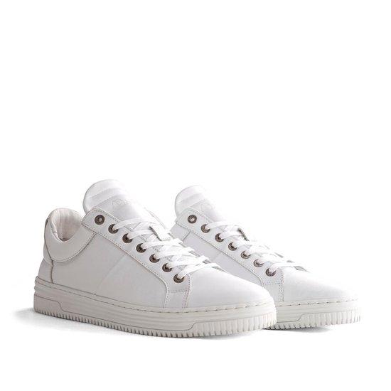 NoGRZ G.Devey Leren heren sneaker Wit Maat 44