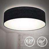 B.K.Licht - Plafondlamp - plafonière - slaapkamer - zwart - IP20 - Ø38cm - excl. 2x E27