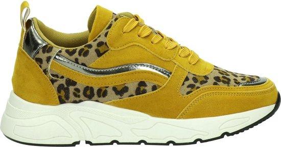 Dolcis dames sneaker - Oker geel - Maat 38