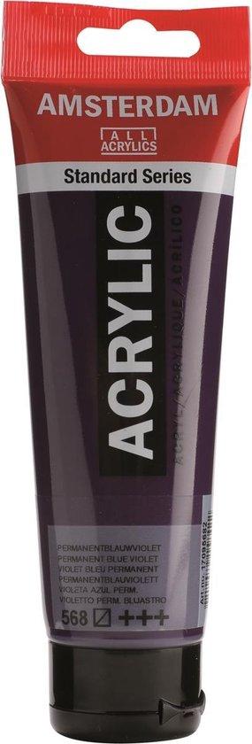 Amsterdam Standard Acrylverf 120ml 568 Permanentblauwviolet