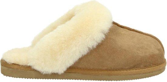 Shepherd dames pantoffel - Cognac - Maat 37