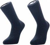 Basset heren katoenen sokken 1 paar - maat 39-43 - Antraciet