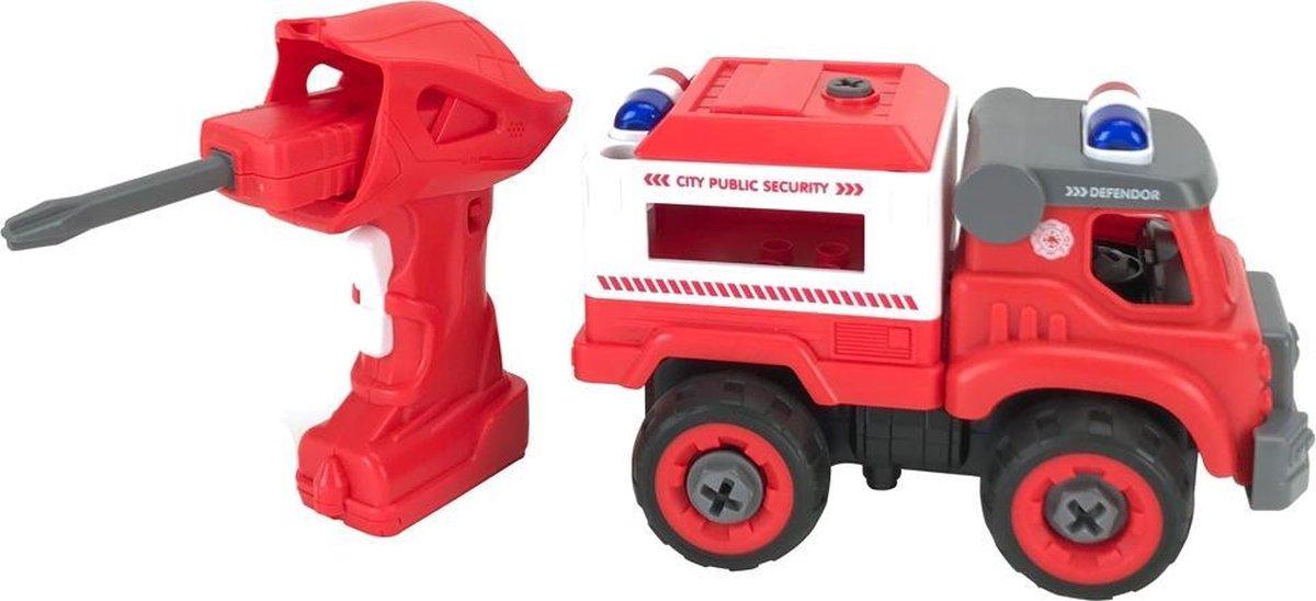 DIY Demonteerbare Brandweerauto met Geluid | Vergelijk DIY