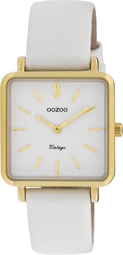 OOZOO Vintage Wit horloge (29 mm) – Wit