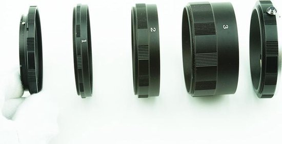 Macro Extension Tubes: Canon EOS Camera Lens 3*metaal rings