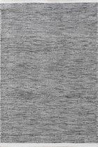 MOMO Rugs - Teppe Black White Vloerkleed - 200x300 cm - Rechthoekig - Laagpolig, Structuur Tapijt - Industrieel, Landelijk, Scandinavisch - Zwart_wit