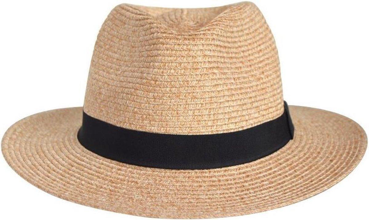 UV-werende Panama Fedora Strandhoed - Pana-Mate Dames & Heren Hoed - Maat: 58cm - Kleur: Natural