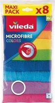 2x Vileda Colors Microvezeldoek 8 Stuks