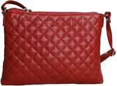 Eastern Counties Leather Dames/dames Rose Quilted Handtas (Rood)