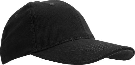 SOLS Unisex Buffalo 6 Panel Baseball Cap (Zwart)