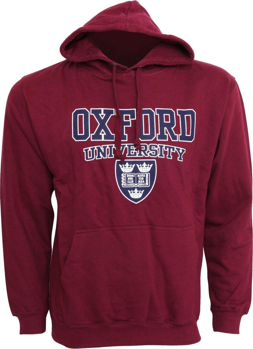 Heren Oxford University Print Hooded Sweatshirt Jumper/Hoodie Top (Marron)