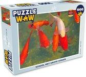 Puzzel Vissen 1000 stukjes - School met grote vissen