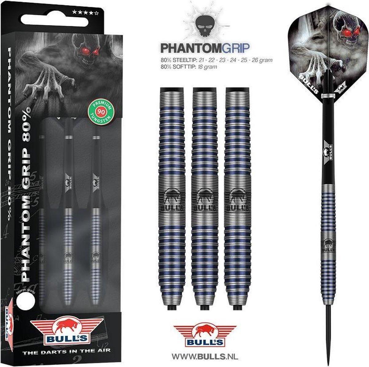 BULL'S Phantom Grip 80% dartpijlen 24 - 26 gram - 24 gram