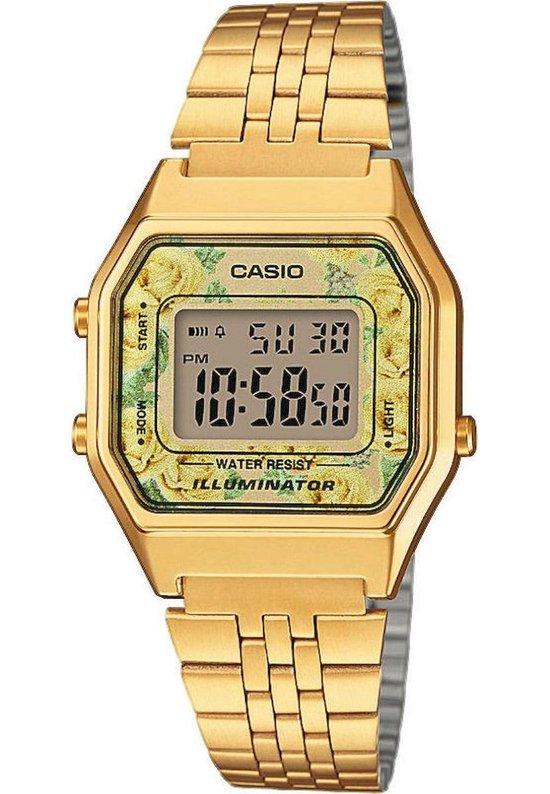 Casio CASIO Collection LA680WEGA-9CEF Horloge – Staal – Goudkleurig – Ø 29 mm