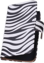 Wicked Narwal | Zebra bookstyle / book case/ wallet case Hoes voor sony Xperia Z3 D6603 Wit