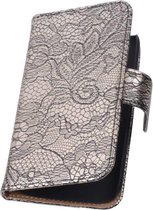 Wicked Narwal | Lace bookstyle / book case/ wallet case Hoes voor sony Xperia Z3 D6603 Zwart