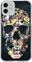 Apple iPhone 12 / iPhone 12 Pro hoesje Vintage Skull Casetastic Smartphone Hoesje softcover case