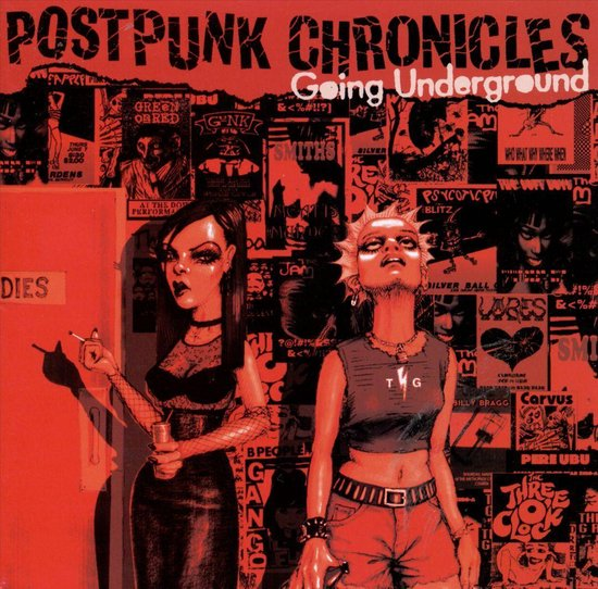 CD cover van Postpunk Chronicles: Going Underground van various artists
