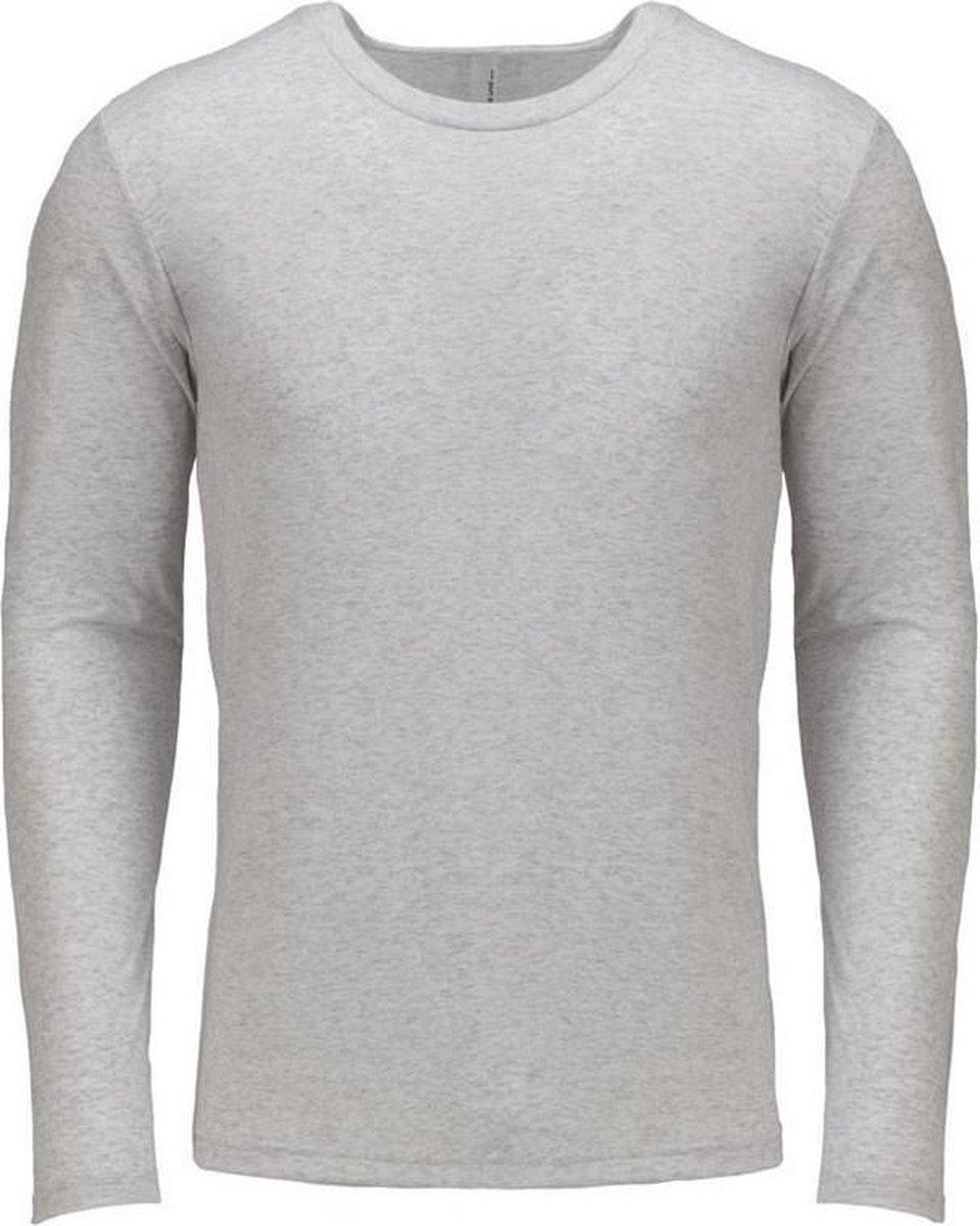 Next Level Volwassenen Unisex Lange Mouw Tri-Blend Crew T-Shirt (Heidewit)