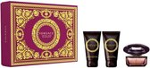 Versace Crystal Noir Giftset - 50 ml eau de toilette spray + 50 ml showergel + 50 ml bodylotion - cadeauset voor dames