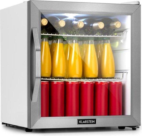 Koelkast: Beersafe L Crystal White koelkast A+ LED 2 metalen roosters glazen deur wit, van het merk Klarstein