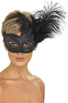 Dressing Up & Costumes | Headwear - Ornate Colombina Feather Mask