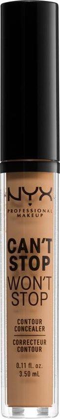 NYX Professional Makeup Can't Stop Won't Stop Contour Concealer - Golden Honey CSWSC14 - Concealer - 3,5 ml