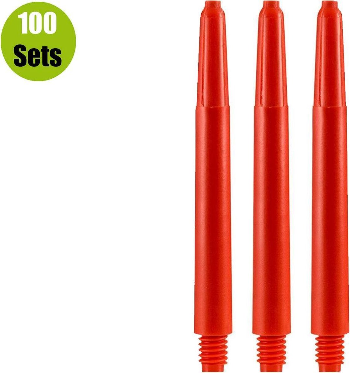 Nylon Dart Shafts - Rood - Short - (100 Sets)