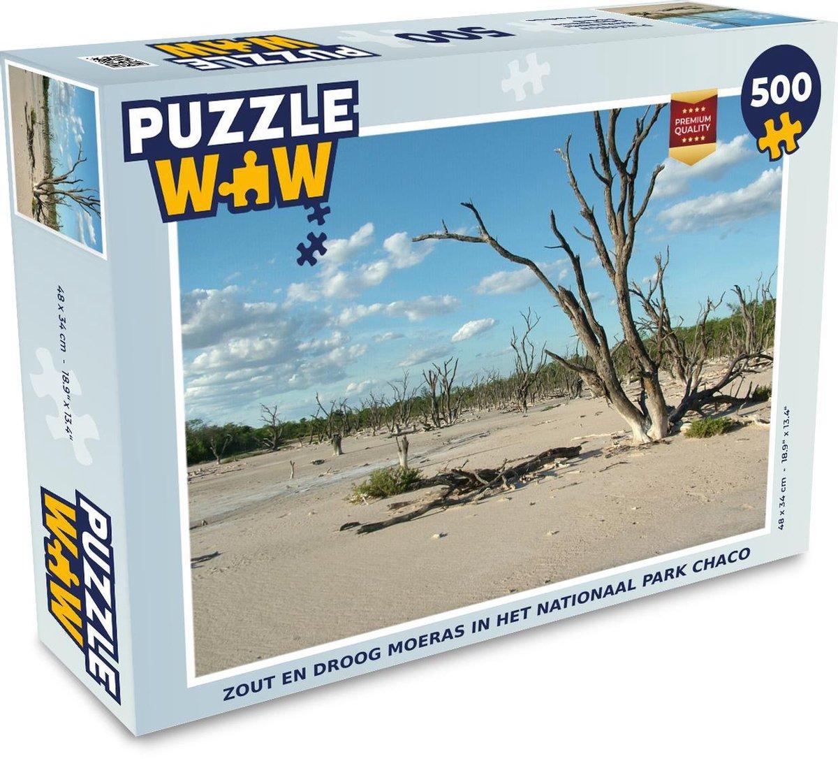 Puzzel 500 stukjes Nationaal park Chaco - Zout en droog moeras in het Nationaal park Chaco  - PuzzleWow heeft +100000 puzzels