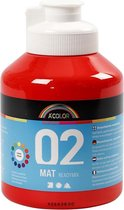 A-Color acrylverf. rood. 02 - matt. 500ml