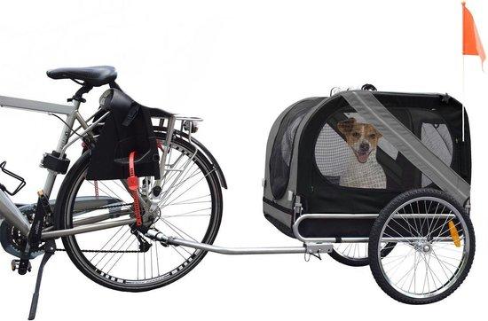 bol.com | Flamingo Doggy Liner Economy - Hondenfietskar - Grijs/Zwart