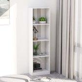 vidaXL Boekenkast met 4 schappen 40x24x142 cm spaanplaat hoogglans wit  VDXL_800843
