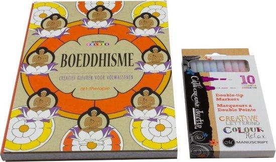 Afbeelding van Boeddhisme Kleurboek Voor Volwassenen Set A040150 - Inclusief Duotip Markers
